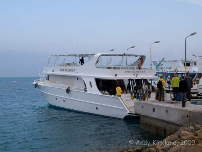 This is the dive boat we used most days - a 5 minute trip down the road